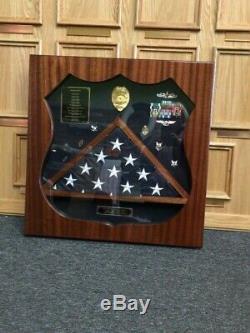 Military shadow box display case, MASTER AT ARMS