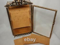 Miniature Ormolu Vitrine Beveled Glass Display Box Case As-Is