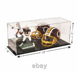 Mirror Acrylic Display Case UV Protection Large Box 17 x 6 x 7 (A019-MDS)