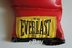 Muhammad Ali Signed Everlast Boxing Glove in display case with JSA LOA HOF auto