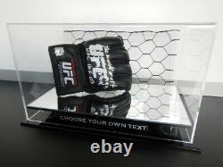 New Boxing Glove Mirror DISPLAY CASE UFC MMA WWE Sports Memorabilia Lego