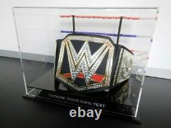 New WWE Championship Belt DISPLAY CASE Wrestling WWF UFC MMA Boxing Lego