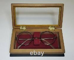 Noble Collection Harry Potter Glasses With Wooden Display Case Box Rare