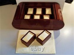 Omega Swiss New Old Stock Super Rare Dealer 8 Watch Mahogany Display Case In Box