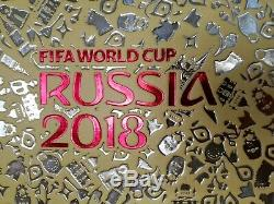 PANINI & HOBBY SAPIENS WC Russia 2018 GOLD EDITION MEGA SET all! UNIQUE