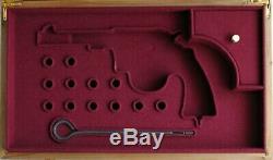 PISTOL GUN PRESENTATION CUSTOM DISPLAY CASE BOX for COLT NEW SERVICE m1909 m1917