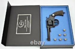 PISTOL GUN PRESENTATION CUSTOM DISPLAY CASE BOX for COLT POLICE POSITIVE 4''. 38