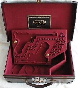PISTOL GUN PRESENTATION CUSTOM DISPLAY CASE BOX for LUGER P08 SET of THREE