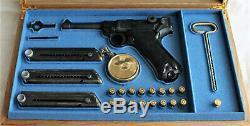 PISTOL GUN PRESENTATION CUSTOM DISPLAY CASE BOX for LUGER P08 parabellum 4 inch