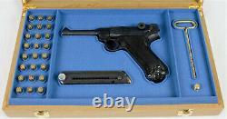PISTOL GUN PRESENTATION CUSTOM DISPLAY CASE BOX for MAUSER LUGER P08 PARABELLUM