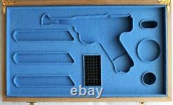 PISTOL GUN PRESENTATION CUSTOM DISPLAY CASE BOX for STOEGER LUGER P08 cal. 22lr
