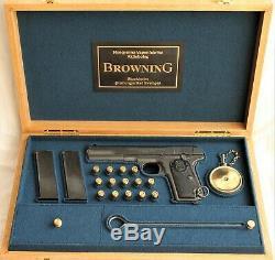 PISTOL GUN PRESENTATION DISPLAY CASE BOX for BROWNING 1903 mauser colt luger