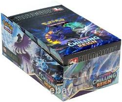 POKEMON CHILLING REIGN SEALED BUILD AND BATTLE BOX DISPLAY CASE 10 Boxes Cards