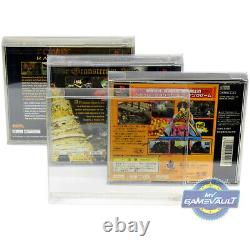 PS1 Game Box Protector x 100 STRONG 0.4mm Plastic Display Case for Playstation