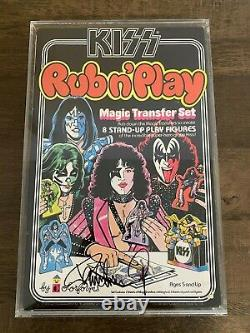Paul Stanley Autographed KISS Rub N Play Box with display case 1979 Aucoin KISS