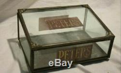 Peter's Chocolate Original General Store Antique Candy Display Case Box 1890's
