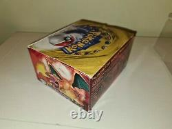 Pokémon Base Set Booster Box EMPTY with acrylic display case GREEN WING WOTC