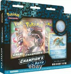Pokemon Champion's Path Pin Collection Set 1 Sealed Display Case 6 Pin Boxes