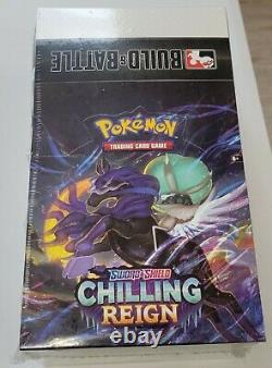 Pokemon Chilling Reign Factory Sealed Build And Battle Box Display Case 10 Packs