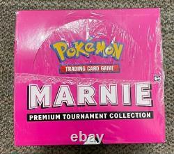 Pokemon Marnie Premium Tournament Collection Display Box Case (4 Sealed Boxes)