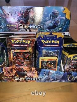 Pokemon Sun & Moon Launch Display Case 72 Packs 12 Booster Boxes +16 Foil Cards