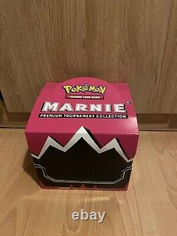 Pokemon TCG Marnie Premium Tournament Collection Box x 4 Boxes with Display Case