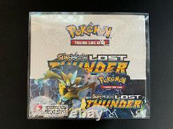 Pokemon TCG Sun & Moon Lost Thunder Booster Box SEALED + Display Case