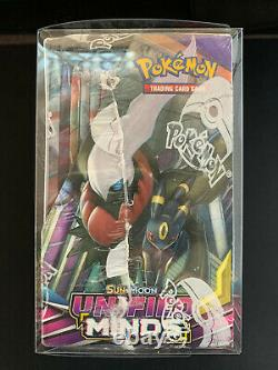 Pokemon TCG Sun & Moon Unified Minds Booster Box New SEALED + Display Case