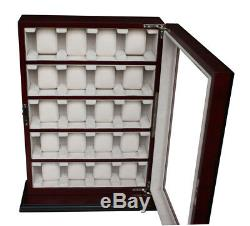 Quality Watch Cabinet Luxury Case Storage Display Box Jewellery Watches R