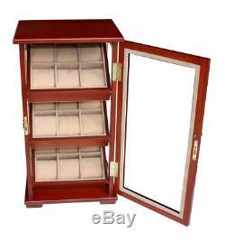 Quality Watch Jewelry Display Storage Holder Case Glass Box Organizer Gift t4