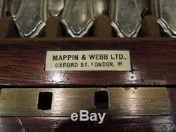 RARE Chippendale style flatware chest box silver plate display case Mappin Webb
