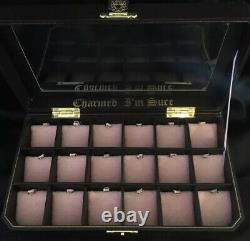 RARE HTF NWT JUICY COUTURE 18 Slot CHARMED IM SURE CHARM DISPLAY JEWELRY CASE