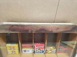 REMINGTON 22 AMMO MERCHANDISER 22 AMMO DISPLAY CASE ORIGINAL with Vintage Boxes