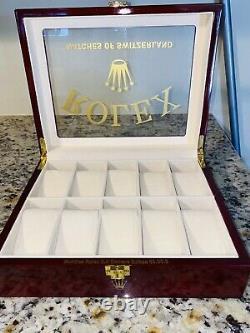 ROLEX Authentic Watch Box Display Case Watches Of Switzerland
