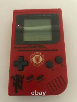 Rare Boxed Original Manchester United Nintendo Gameboy DMG with Display Case
