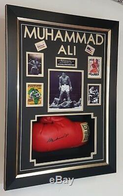 Rare MUHAMMAD ALI SIGNED GLOVE and Display Case