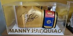 Rare Manny pacquiao signed glove with COA and display case