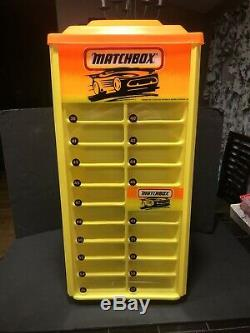Rare Matchbox Revolving Display Case For 75 Cars With Original Box Very Nice