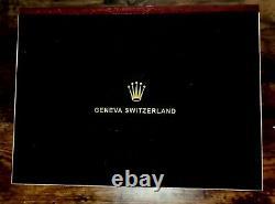 Rolex (Anniversary Edition) Luxury Watch Display Box / Case Holds 12 watches