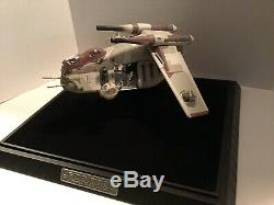 STAR WARS REPUBLIC GUNSHIP CODE 3 LIMITED EDITION WITH BOX #694 With Display Case