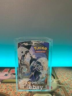 Sealed Pokemon Sun & Moon Burning Shadows Booster Box with Acrylic Display Case