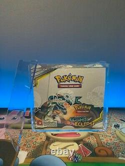 Sealed Pokemon Sun & Moon Cosmic Eclipse Booster Box with Acrylic Display Case
