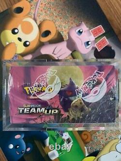 Sealed Pokemon Sun & Moon Team Up Booster Box with Acrylic Display Case