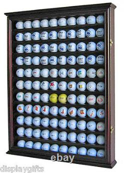 Shadow Box Wall Cabinet to hold 110 Golf Balls Display, with Glass Door