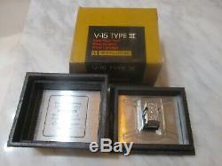 Shure V15 Type III Cartridge & Genuine Shure Vn35e Stylus In Display Case / Box