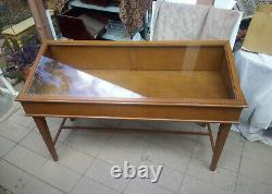 Solid Wood Shadow Box and Glass Retail Display Case