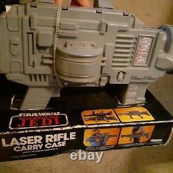 Star Wars Vtg Figure Kenner LASER RIFLE CARRY Case Genuine Original Display Box