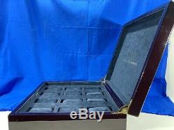 Swiss Watch International 12 Slot Wood Watch Box Display Case Organizer SWI