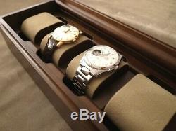 Toyooka Wooden Alder Watch Case Box Display 4 Collection Slot Storage SC114