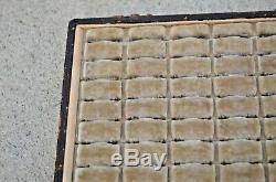 VTG Antique Victorian 60 Ring Display Box Case Tray Retail Jewelry Store Velvet